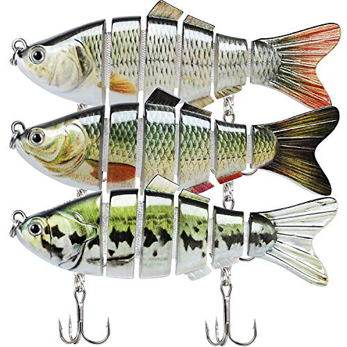 Fishing Lures for Bass 3.9' Multi Jointed Swimbaits Slow Sinking Hard Lure Fishing Tackle Kits...