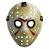 CASACLAUSI Jason Mask Cosplay Halloween Costume Mask Prop Horror Hockey Black Eyes Adult