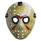 CASACLAUSI Jason Mask Cosplay Halloween Costume Mask Prop Horror Hockey Black Eyes Adult