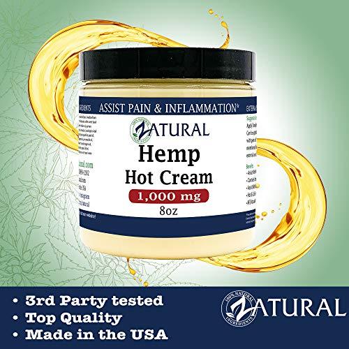 Hemp Hot Cream-Hemp Oil-Organic Hot Cream-Anti Cellulite-Muscle Cream-Pain Support (1,000mg) 6
