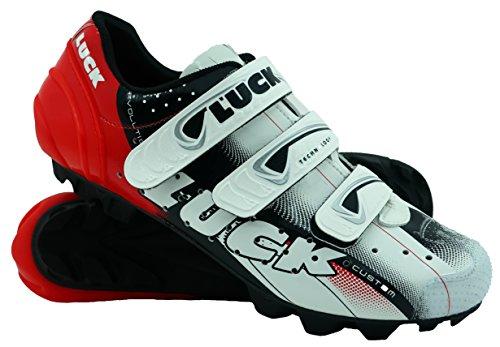 LUCK Zapatilla de Ciclismo Extreme MTB, con Suela de carbono Y 3 velcros para Una sujeción...