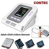 CONTEC08A FDA Approved Fully Automatic Digital Upper Arm Blood Pressure Monitor Adult, Child, Pediatric,Neonotal Cuffs (4 Cuffs)