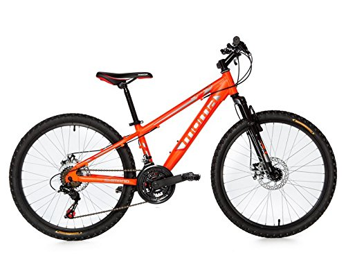 Moma Bikes, Bicicletta Mountainbike 24BTT Shimano, Alluminio, Doppio Disco e Sospensione
