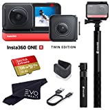 Insta360 ONE R Twin Edition - Super 5.7K Dual-Lens 360 Camera + 4K Wide Angle 60FPS with Bullet Time Kit with 128GB Memory Card (3 Items)