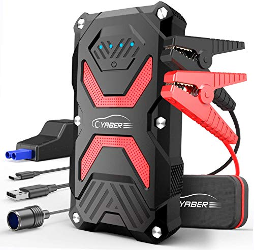 YABER Jump Starter, Car Battery Jump Starter Pack 1000A 13800mAh for 6.0L Gas/5.0L Diesel, IP68...