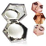 Polvos de Maquillaje, Paleta Contorno Profesional, Paleta De Sombras De Ojos Highlight Smooth and Delicate Powder Waterproof Eye De Larga Duración