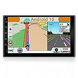 YUNTX Android 10 Doppel Din Autoradio mit navi - GPS 2 Din - Rückfahrkamera einbeziehen - 7 Zoll -...