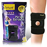 Arthetik Knee Brace, Relieves and Supports Meniscus Tear, Arthritis, PCL, ACL, LCL, MCL, Tendinitis Pain, Running, Sports Play, Open Patella Dual Stabilizers, Neoprene Brace, Small - Medium