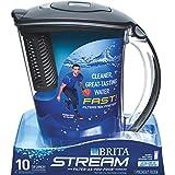 Brita CLOROX Sales CO DIV 36217 Brita10C Stream Pitcher, 10-cup, Carbon Gray