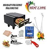 HOTLIFE Micro Smart Looking Electric Tandoor Combo 1500 W (Black) Steel Element for Heating