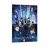 QTYB Poster psychologique manga Psychologique sur toile pour salon, chambre à coucher 50...