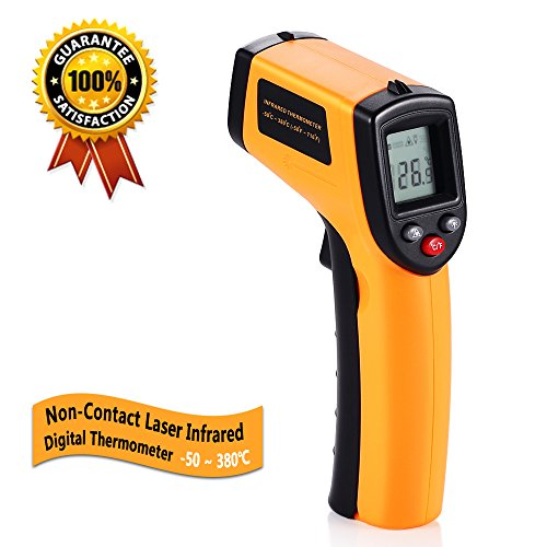 Digital Infrared Thermometer, Non-Contact Laser IR Temperature Gun