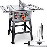 TACKLIFE 2000W Table Saw, Aluminum Expansion table with 24T Blade(4800 RPM), Miter Gauge,...