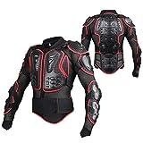 WILDKEN Veste Armure Moto Blouson Motard Gilet Protection Équipement de Moto Cross Scooter VTT Enduro Homme ou Femme (Rouge, m)