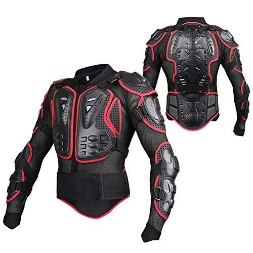 Wildken Motorrad Schutz Jacke Pro Motocross ATV Protektorenjacke mit Rückenprotektor Scooter MTB Enduro für Damen und Herren (Rot, XL)