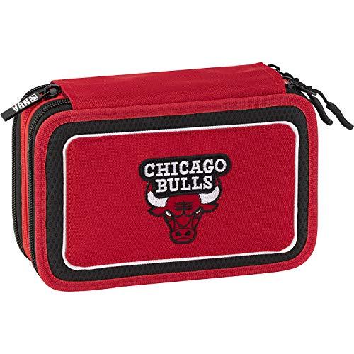 NBA Astuccio Corredo 3Zip Chicago Bulls Rosso