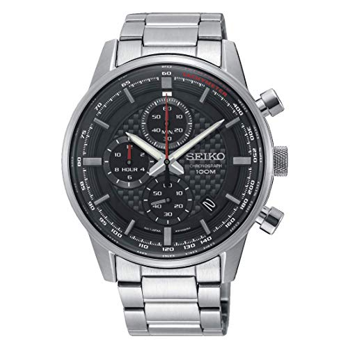 Seiko Herren Chronograph Quarz Uhr mit Edelstahl Armband SSB313P1