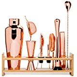 Jillmo Pro Martini Bartender Kit Copper Coated Rose Gold Stainless...