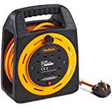 VonHaus Extension Lead Extra Long 15m - 4 Socket Extension Reel with Thermal Cut Out, 13A ideal for Workshops Home Use DIY and more