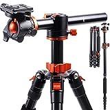 K&F Concept Treppiede Fotocamera Reflex TM2515T con 360° e 180° Colonna...