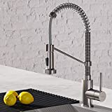 Kraus KPF-1610SS Bolden 18-Inch Commercial Kitchen Faucet with Dual Function Pull-Down Sprayhead in all-Brite Finish, 18 inch, Stainless Steel