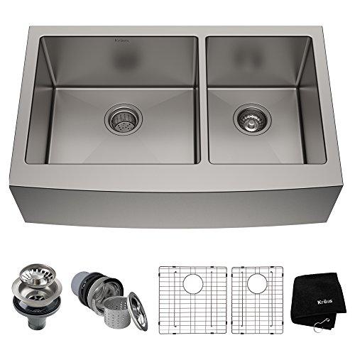 Kraus KHF203-36 Standart PRO Kitchen Stainless Steel Sink, 35.88', 36...
