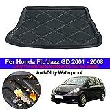 ZYHZJC Coche Alfombrilla del Maletero,para Honda Fit Jazz GD 2001-2008 Hatchback Bota Trasera del Maletero Cargo Liner Bandeja Maletero Maletas Alfombrillas Alfombras