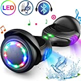 TOMOLOO Hoverboard with Speaker and Colorful LED Lights Self-Balancing Scooter UL2272 Certified 6.5' Wheel for Adults and Child…