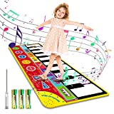 Magicfun Kids Musical Mat, Musical Piano Mat 8 Instrument Sounds 5 Play Modes with 3AA Batteries and Screwdriver Set Dance and Learn Mat for 2 3 3+ Year Old Boy Girl Toys 58.26' x 23.62'