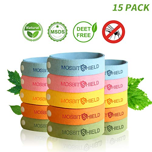 DREAMWIN Anti-moustiques Bracelet, 15 Pcs Matériau Naturel et Non Toxiques...
