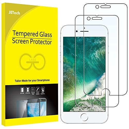 JETech Pellicola Protettiva per iPhone 8 Plus / 7 Plus, Vetro Temperato, Pacco da 2
