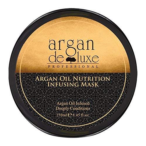 Argan Deluxe Haarmaske in Friseur-Qualität 250 ml - Haarkur mit Arganöl zur intensiven Pflege