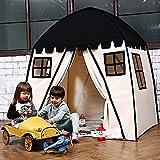 ZINE Casa de la Tienda de los niños, Grandes niños Teepee Tienda portátil niños casa de Juegos para niños Interiores al Aire Libre Uso Fuerte, con el maletín de Transporte Black