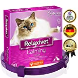 Relaxivet Calming Pheromone Collar For Cats and Small Dogs - Reduces Anxiety Your Pets - The Best Replacement for Calming Chews Treats Drops Plug In