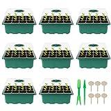 Herefun wewnętrzna szklarnia do uprawy, 8 sztuk 96 komórek mini szklarnia uprawa roślin, tace do uprawy, tace startowe do sadzonek do domu, gospodarstwa i dziedzińca, balkon