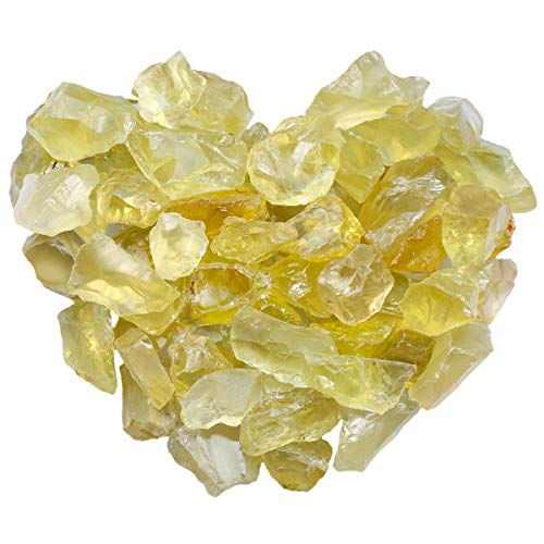 mookaitedecor 1 lb Bulk Natural Citrine Raw Crystals Rough...
