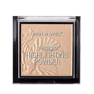 MEGA GLO HIGHLIGHTER: This pressed powder highlighter helps you achieve a luminous glow. Buttery, buildable formula melts onto the skin for a weightless feel and effortlessly blended application. GLOW AHEAD: Formulated with micro-fine pearls, this hi...