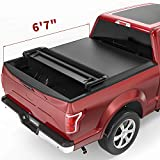 OEDRO Quad Fold Tonneau Cover Soft Four Fold Truck Bed Covers Compatible with 2015-2021 Ford F-150 F150, Styleside, 6.6 Feet Bed