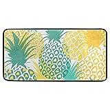 Kitchen Rugs Pineapple Tropical Fruit Design Non-Slip Soft Kitchen Mats Bath Rug Runner Doormats Carpet for Home Decor, 39' X 20'