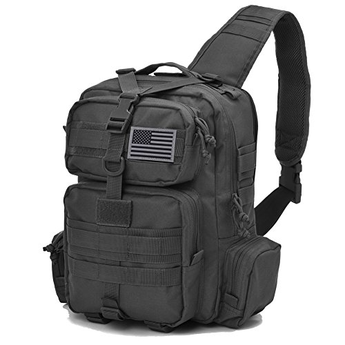 REEBOW TACTICAL Sling Bag Pack Military Sling Backpack...