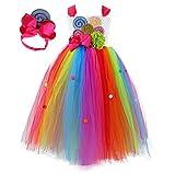 Tutu Dreams Birthday Dress for Girls Rainbow Lollipop Candy Tutu Dress Birthday Party Carnival Prom Ball Dance (rainbow, 11-12 Years)