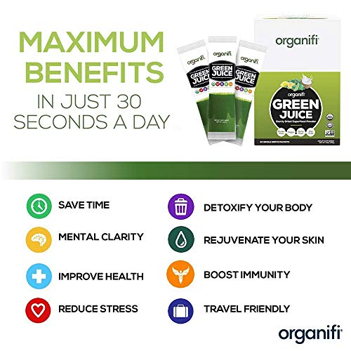 Organifi: GO Packs - Green Juice - Organic Superfood Supplement Powder - 30 Count - Organic Vegan Greens - Hydrates and Revitalizes - Support Immunity, Relaxation and Sleep 6