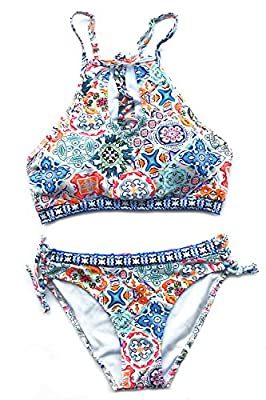 Fabric: Chinlon,Elastane Design: Printing and Tie at back About Cup Style: With padding bra Garment Care:Hand Wash and Hang Dry. Recommend with Cold Water. Do not Use Bleach. Please Refer To Our Detailed Size Chart Below the Product Description Befor...