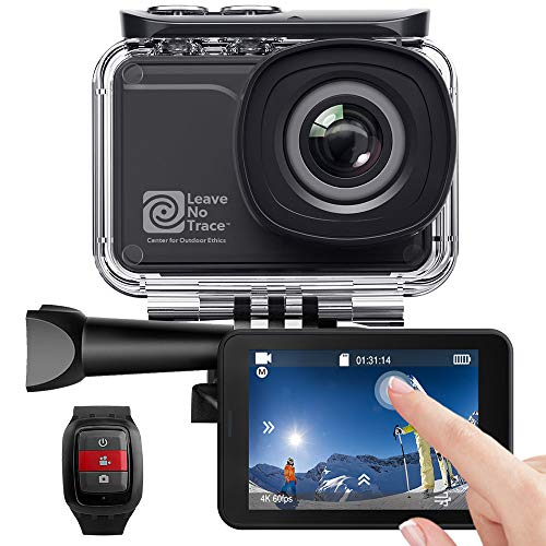 AKASO Action Cam WiFi Native 4K/60fps 20MP Touch Screen Telecomando EIS 39m Impermeabile 3 Batterie 170° Angolo Regolabile Kit di Accessori(V50 PRO SE)
