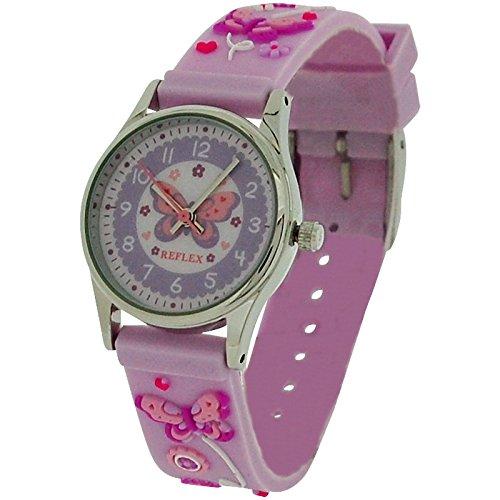 Reflex Time Teacher Kids Girls lilla 3D silicone farfalla orologio da polso REFK0012