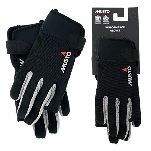 Musto Essential Long Finger Sailing Gloves - 2018 - Black S