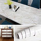 Livelynine Kitchen Wallpaper Peel and Stick Countertops 15.8 X197 Inch Kitchen Countertop Covers Peel and Stick Wall Covering Instant Granite Desk Cover Adhesive Marble Paper Removable Waterproof