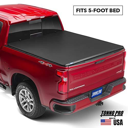 Tonno Pro Hard Fold, Hard Folding Truck Bed Tonneau Cover   HF-164   Fits 2015 - 2020 GMC Canyon & Chevrolet Colorado 5' Bed