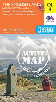 OS Explorer ACTIVE OL4 The English Lakes North Western area (OS Explorer Map)
