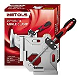 WETOLS Angle Clamp - 90 Degree Right Angle Clamp - Single Handle Corner Clamp with Adjustable Swing Jaw Aluminum Alloy for Woodworking, Photo Framing, Welding and Framing - WE705…